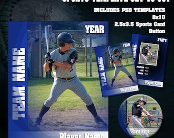 Sports V3 Photoshop Template Set 001 ~ Works with any Sport Theme! [ON SALE!]