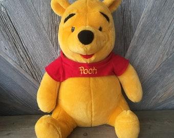 Vintage Winnie the Pooh LARGE Stuffed Pooh Toy {Mattel Acrotoys} 20 Inches Nursery Kids Room Decor Plush Stuffed Animal Bear Big Teddy Bear