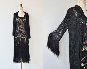 Dark Wave dress & jacket | vintage 1920s dress | antique 20s crochet dress