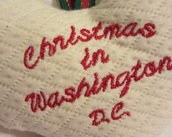 Christmas in Washington D.C.  ///  Christmas Ornament  ///  Love Washington D.C.  ///  Heart Ornament