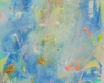 """Inner Light, an 8x10"""" original abstract painting *ooak* abstract expressionism* canvas art"""