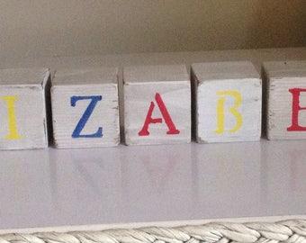Wooden Name Blocks - Letter Blocks