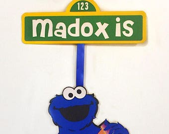 Cookie Monster - Sesame Street - Cookie Monster Party - Cookie Monster Sign - Sesame Street Party - Sesame Street Decor - Cookie Party