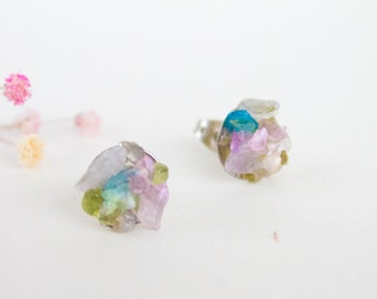 Spring Studs - pastel gemstone stud earrings