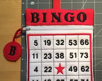 Bingo Zippered Clutch Bag