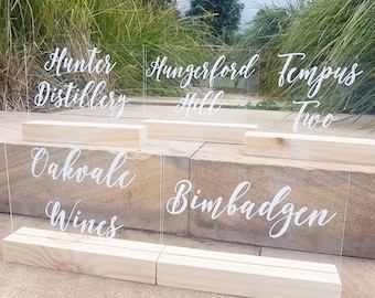 Acrylic Table Names | Table Numbers | Wedding table numbers | wedding sign | wedding signage | Acrylic Sign | Perspex Sign |