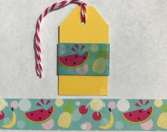 "30"" Cute Fruit Washi Tape Sample"