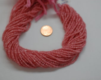 Pink Peruvian Opal Rondelle Faceted