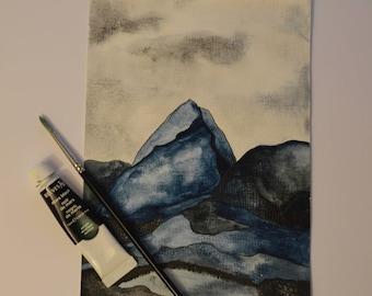 Evening Mountain Original Watercolour Painting