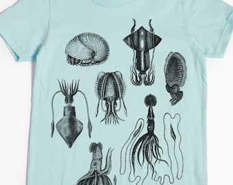 Squid Shirt - Kids' T-shirt - Children's Gift - Screen Printed Squids