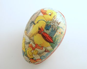 Vintage Easter Egg Paper Mache Candy Container Western Germany