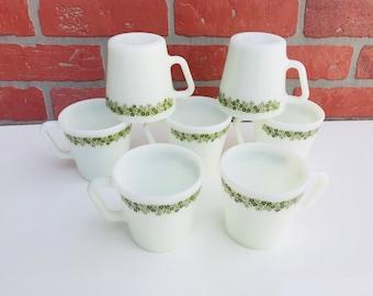 Set of 7 Vintage Pyrex coffee Mugs