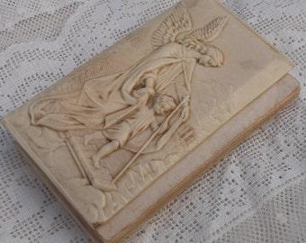 Guardian Angel Antique Prayer Book with Bakelite or Celluloid Cover, Angelo Custode, Rare Italian Religious Book, Catholic