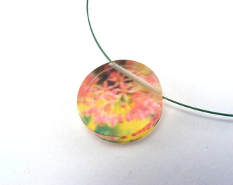 Plexiglass Circle Necklace - black friday offer pendant - Flower Acrylic Plexi Jewelry, Handmade Pendant