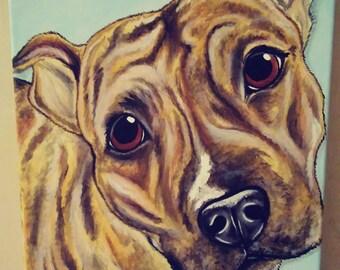 CUSTOM Painted Pet Portrait 11x14, pet memorial, pet loss, best friend, personalized gift
