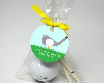 Personalized Golf Favor Tag - DIY Printable Digital File