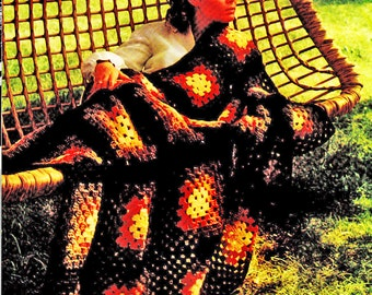 Afghan Crochet Pattern, Granny Square Crochet Afghan Pattern, Handmade Gift Idea,  PDF INSTANT Download Pattern (1015)