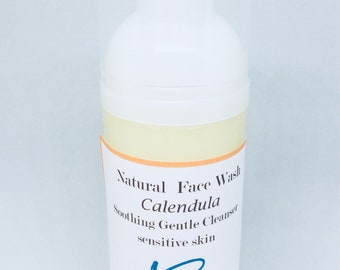 Organic Calendula Foaming Face Wash Rosacea, Psoriasis, Sensitive Skin Types