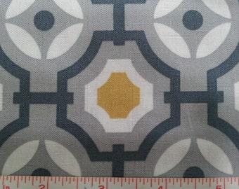 Gray Cotton Fabric, Gray Mustard Mime Cotton Fabric by the yard, quilt fabric, quilting fabric, apparel fabric