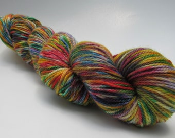 Crayon Box - hand painted DK weight yarn, hand dyed