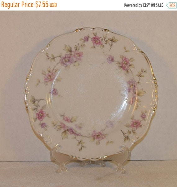 Delayed Shipping Bavaria Edelstein Salad Plate Vintage Delphine Pink Dessert Plate Discontinued China Replacement Wedding Decor Gift For Her
