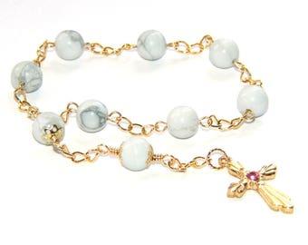 Prayer Beads - Anglican Pocket Rosary, Women's Prayer Beads