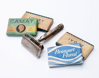 Ever Ready Razor Old Soap Bars Vintage Shaving Supplies