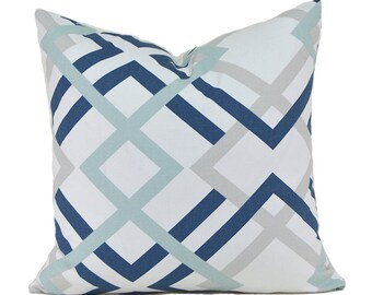 Pillow Covers Decorative Pillows ANY SIZE Pillow Cover Navy Blue Pillow Premier Prints Winston Navy
