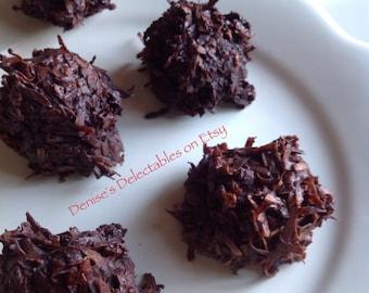 Bailey's Irish Cream & Dark Chocolate Coconut Macaroons by Denise's Delectables Bakery