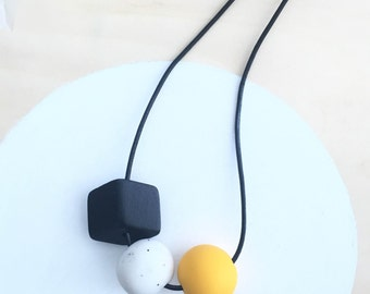 polymer clay necklace | polymer clay jewelry | clay necklace | handmade necklace | modern necklace | statement necklace | beaded necklace