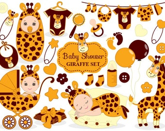 Baby Shower Giraffe Clipart - Vector Baby Giraffe Clipart, Baby Shower Clipart, Baby Giraffe Clipart, Baby Giraffe Clip Art
