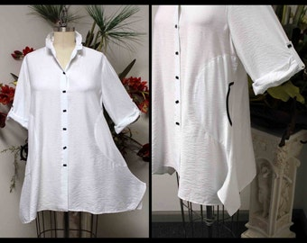 Stylish and Artsy Designer Plus size and Regular size lagenlook Blouse from M to 3XL.