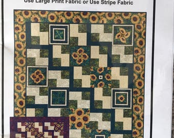 Steppin' Out by Ann Lauer - Lap - King quilt pattern from Grizzly Gulch Gallery