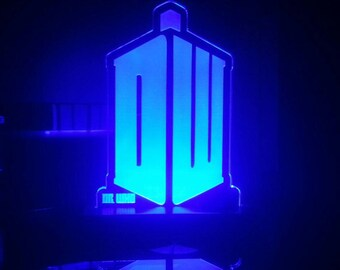 Dr. Who Acrylic LED Light Sign, Led Display Sign, Led Lite Sign,