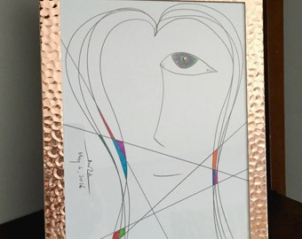 Abstract Line Face Painting