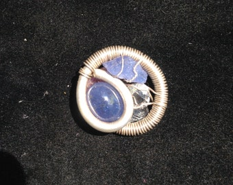 Silver wire wrapped pendant