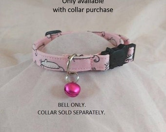 Cat Collar with Bell, Dog Collar with Bell, Add a Bell to any Collar,