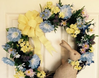 Easter Sale Was 45.00 Now 38.00. Easter Wreath. Holiday Wreath. Grapevine Wreath. Handmade Easter Wreath. Easter Bunny Wreath