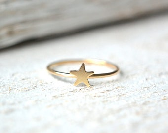Star Ring- Gold Star Ring, Star Ring Gold, Stacking Ring, Stackable Ring, Dainty Ring, Minimalist Star Ring