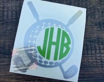 Golf Decal | Sports Decal | Personalized Golf Decal | Car Window Decal | Yeti Tumbler Decal | Golf Club Decal | Golf Monogram | Vinyl Decal