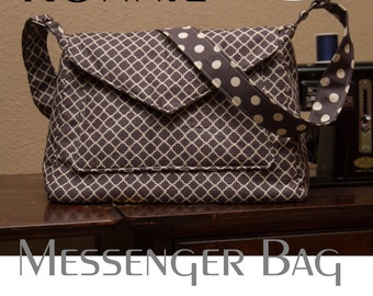 Ronnie Messenger Bag Purse Crossbody PDF Sewing Pattern