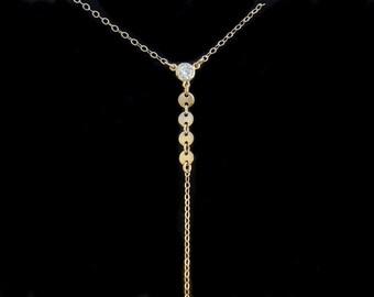 Lariat Necklace, Y Necklace, Gold Lariat, Silver Lariat, Lariat and Y Necklaces