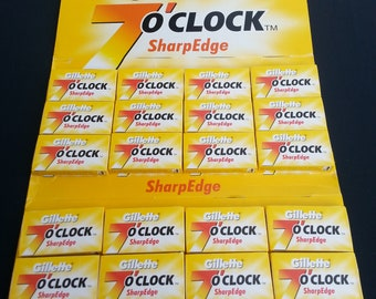 100- Gillette 7o'clock SharpEdge Razor Blades