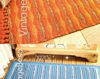 2 EASY RUG CROCHET Patterns • Home Crochet Patterns • 1970s Rug Crochet Pattern • Bohemian Decor Vintage Pdf Patterns • Instant Download Pdf