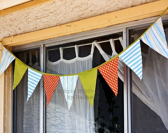 Custom Made Fabric Pennant Banner - Photo Prop - Party Banner - Home Decor - Nursery Banner - Pennant - Custom Banner - Custom Pennant