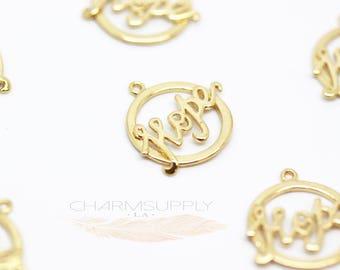 5 pieces Hope outline charm/Pendant