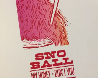 New Orleans Snoball print Snowcone art Louis Armstrong song Hoagie Carmichael lyric Valentine Sweet treat Kitchen art Southern poster summer