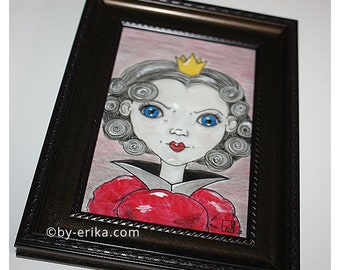 Framed illustration: the Queen of hearts