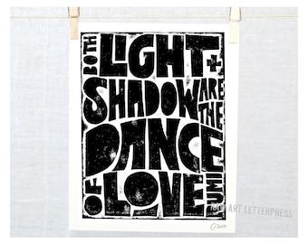 Valentine's Day, Dance Quote, Gift for Man, Dance of Love, Rumi, Love Quote, Valentine, Anniversary, Wedding Gift, Rumi Love Quote