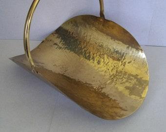 Hand Hammered Solid Brass Magazine Rack